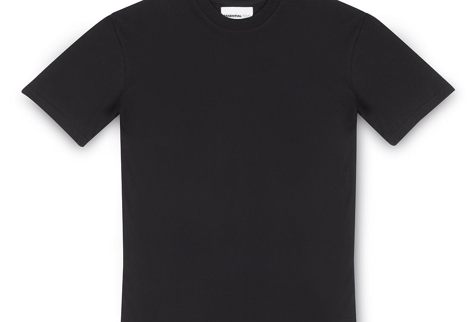 ESSENTIAL ITEMS BLACK T-SHIRT FRONT VIEW