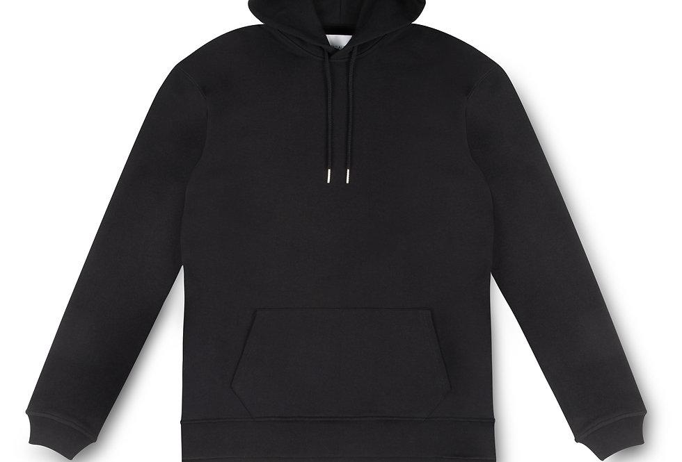 Essential Items Black Hooded Sweatshirt front view