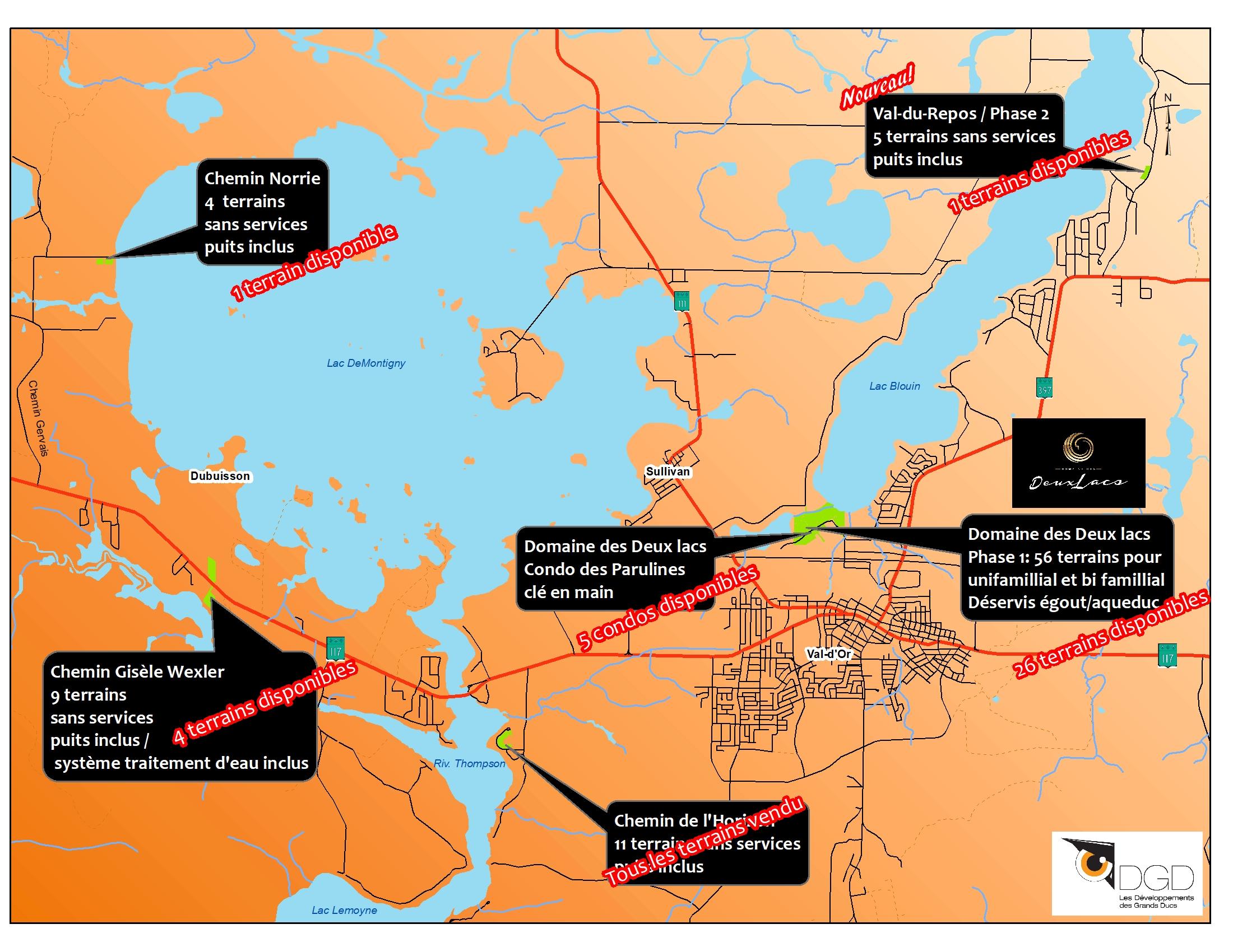 Localisation des projets 2020