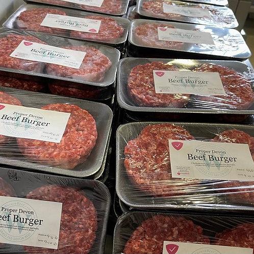 Proper Devon Beef Burgers