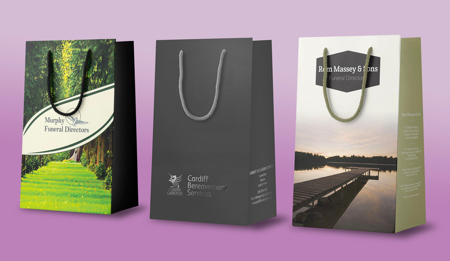 Branded Urn Bags for Funeral Directors   Canfly Marketing