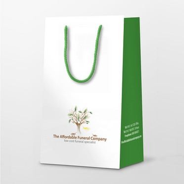Affordable Funeral Company Urn Presentation Bag | Canfly Marketing