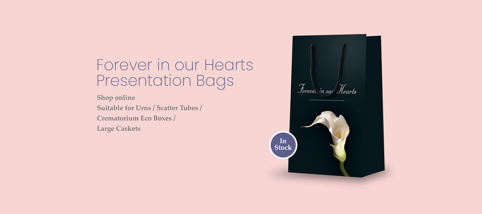 Forever in our Hearts Funeral presentation bags by Canfly Marketing