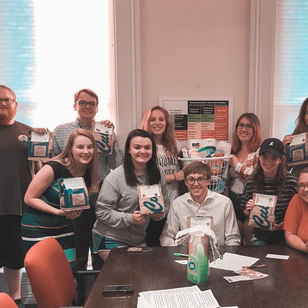 Brothers at our community service event at @centerstone_org! They put together snack bags for kids in foster care as well as baskets for young adults in the independent living program.