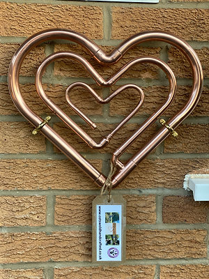 Cotswold Copper Triple Heart