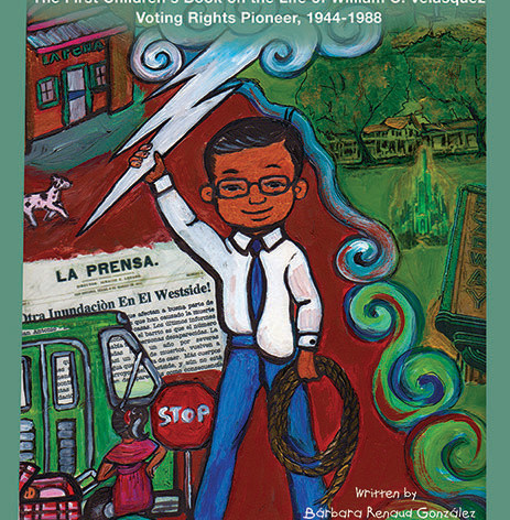Cover-The boy made of lightning -1st Chicanx eBook on iPad