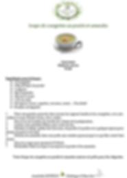 recette soupe de courgettes au poulet et