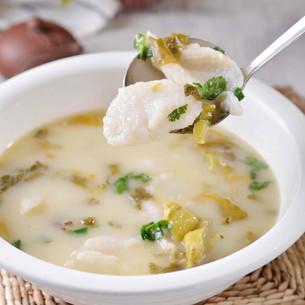 Fish w Sour Cabbage Soup 酸菜鱼片汤