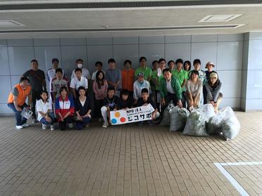 ジコサポ浜松支部で行った9月の道路清掃活動にたくさんの方が参加をしてくれました