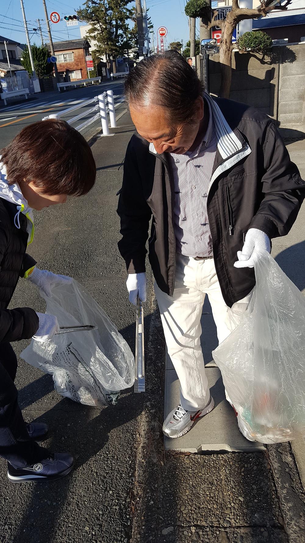 ジコサポ浜松、道路清掃活動