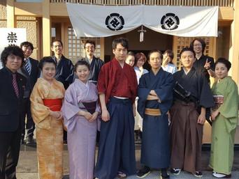 松陰神社内の立志殿建立記念式典に参加をしてきました「劇団熱血天使」