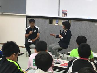 出版記念講演会を熊本大津で行いました「サッカー日本代表候補に選出される方法」