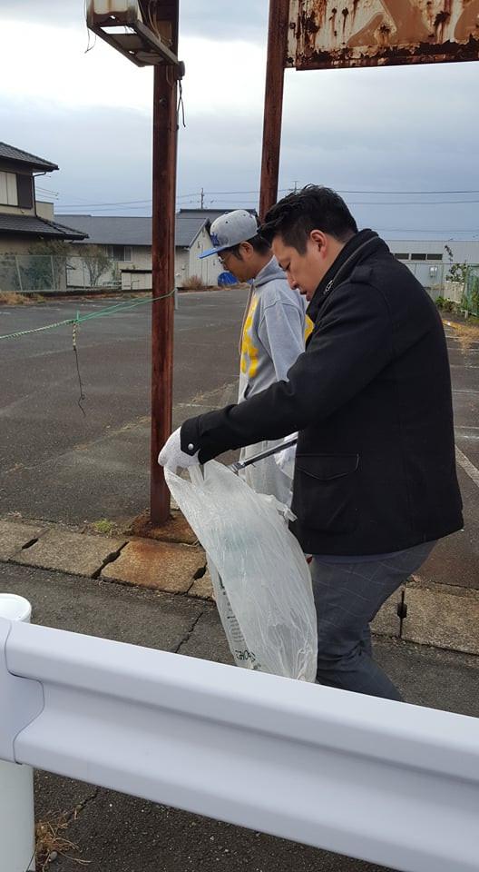塩谷立 道路清掃活動