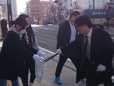 ジコサポ日本仙台支部 3月度道路清掃活動を行いました。