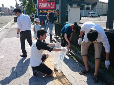 ジコサポ仙台 道路清掃終了しました
