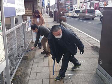 ジコサポ日本仙台支部2月度道路清掃活動を行いました。