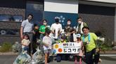 7月浜松市西区雄踏町ではじめての道路清掃活動を行いました。 :浜松市南区 交通事故 専門治療ジコサポ保険整骨院