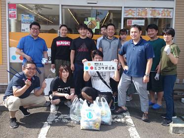 ジコサポ日本 仙台支部8月の道路清掃活動を行いました。