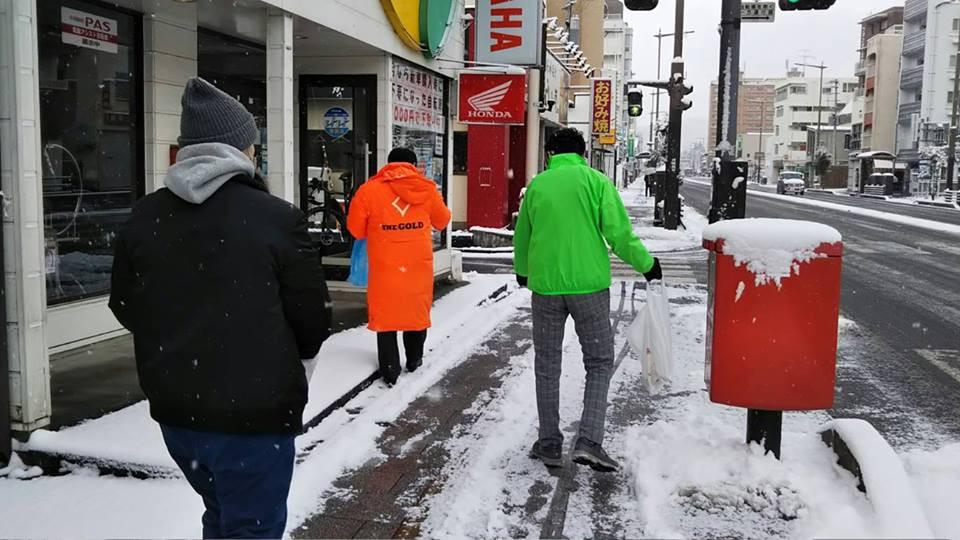 ジコサポ仙台の道路清掃活動