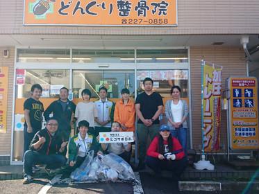 ジコサポ日本仙台支部10月度道路清掃活動を行いました。
