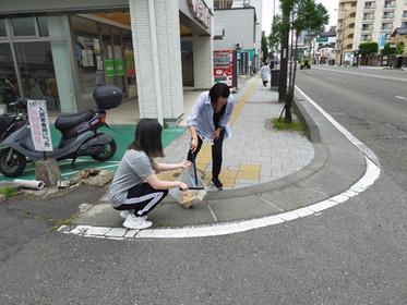 NPOジコサポ仙台 6月道路清掃活動を行いました。 交通事故無料相談 仙台市 NPOジコサポ仙台