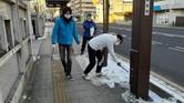今年初めてジコサポ仙台で道路清掃活動が行われました。