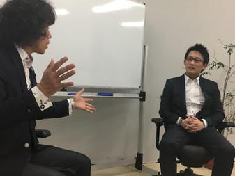 代表小楠氏と開発者片田氏が対談をしました