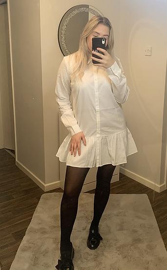 VICTORIA Frill Shirt Dress