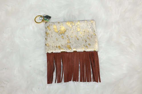 GOLD COIN PURSE + FRINGE