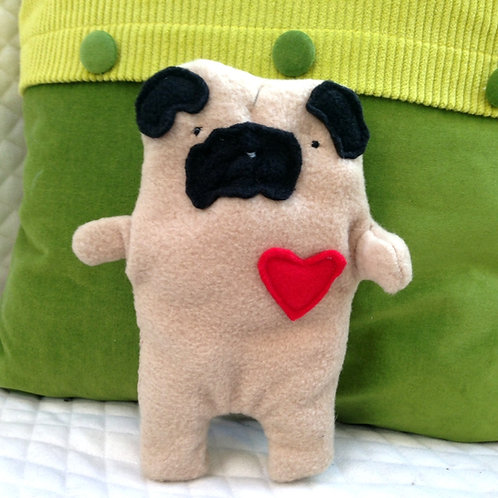 Earl ~ The Fawn Pug Bummlie ~ Stuffing Free Dog Toy