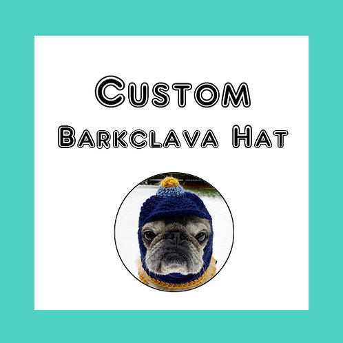 Custom Barkclava Dog Hat - Made to order - You choose the colors!