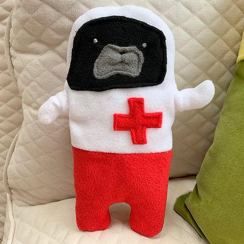 Nurse Helga - The Get Well Soon Pug-Jama Bummlie ~ Stuffing Free Dog Toy