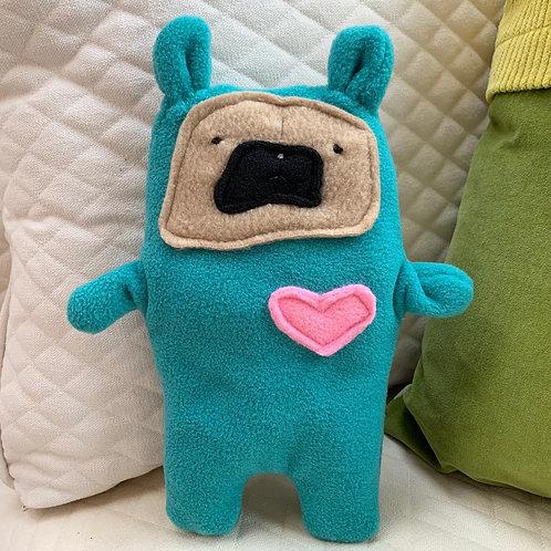 Oscar ~ The Pug Bunny Bummlie ~ Stuffing Free Dog Toy