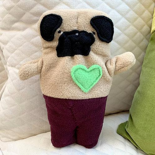 Sheldon ~ The Mer-Pug Bummlie ~ Stuffing Free Dog Toy