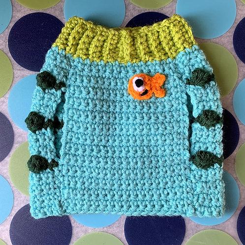 Size XS - Goldfish Badge Sweater Vest - Under The Sea