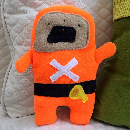 Swim Coach Archie - The Pug-Jama Bummlie ~ Stuffing Free Dog Toy