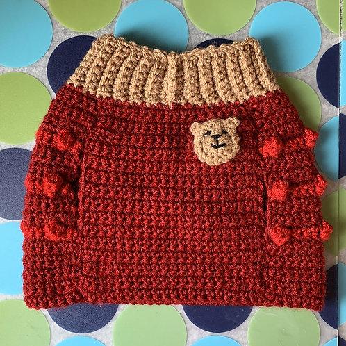 Size M - Teddy Bear Badge Dog Sweater Vest - Boo Boo Bear