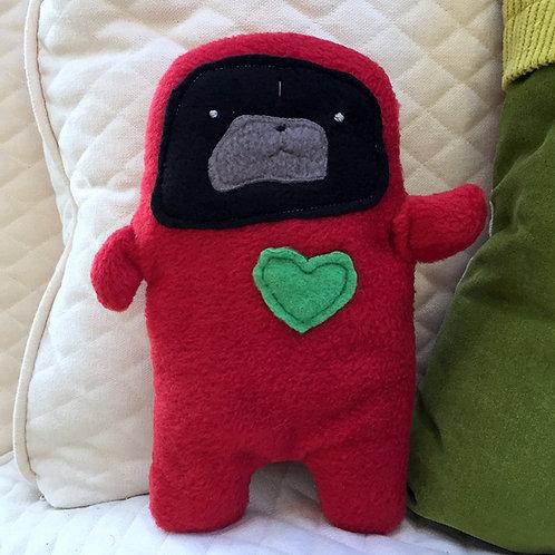 Jolly - The Holiday Pug-Jama Bummlie ~ Stuffing Free Dog Toy