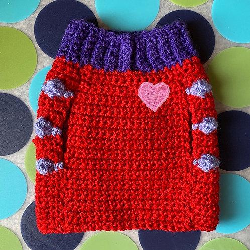 Size XS - Pink Heart Badge Sweater Vest - Heart Breaker