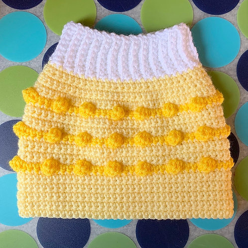 Size M - Dog Sweater Vest - Lemon Drop