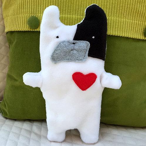 Ethel ~ The Pied French Bulldog Bummlie ~ Stuffing Free Dog Toy