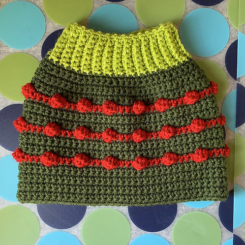 Size M - Dog Sweater Vest - Stuffed Olive