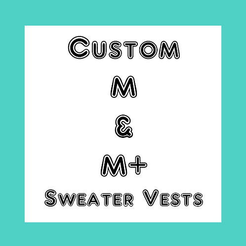 Custom M or M+  Dog Sweater Vest - Choose your favorite colors -Made to order