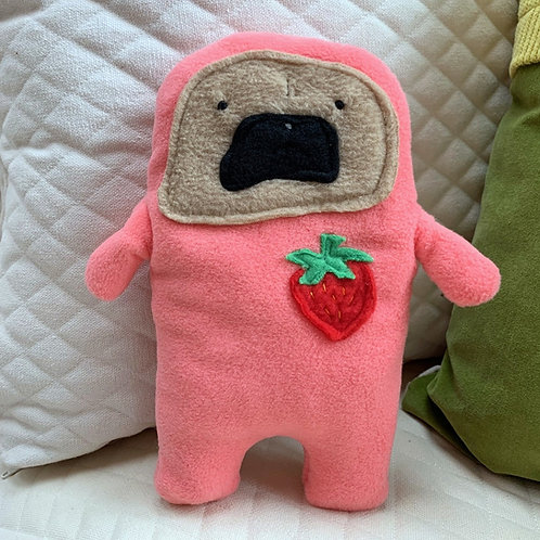 Jam - The Strawberry Patch Pug-Jama Bummlie ~ Stuffing Free Dog Toy