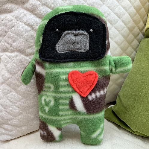 Nerf - The Football Pug-Jama Bummlie ~ Stuffing Free Dog Toy