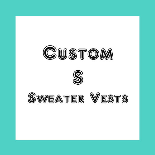 Custom S - Dog Sweater Vest - Choose your favorite colors -Made to order