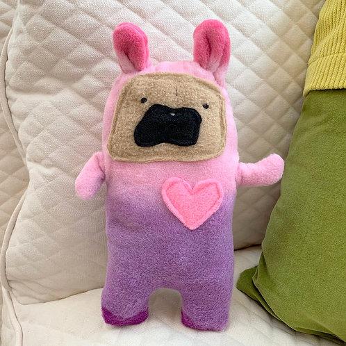 Cake ~ The Pug Bunny Bummlie ~ Stuffing Free Dog Toy
