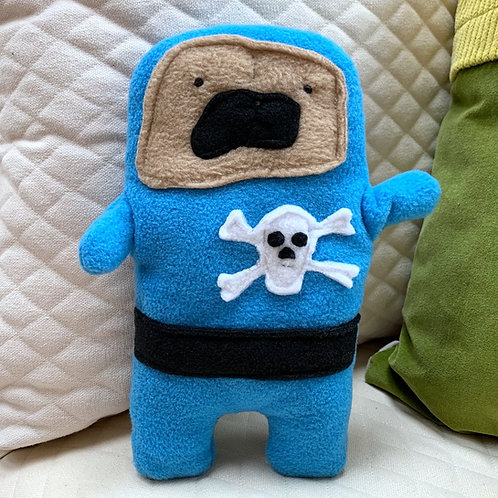 Captain Archie - The Pug-Jama Bummlie ~ Stuffing Free Dog Toy