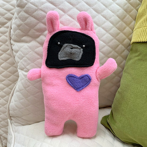 Evy ~ The Pug Bunny Bummlie ~ Stuffing Free Dog Toy
