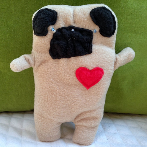 Spanky ~ The Blind Pug Bummlie ~ Stuffing Free Dog Toy